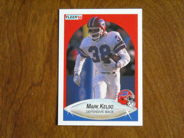 Mark Kelso Buffalo Bills Defensive Back Card No 115 (FB115) 1990 Fleer Football Card - for sale at Wenzel Thrifty Nickel ecrater store