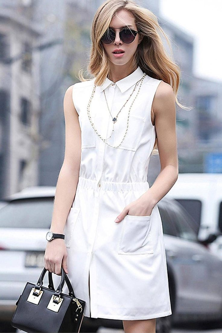 Urban style, white dress. I loved.