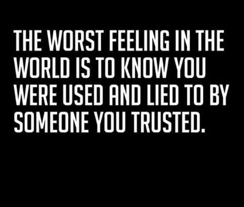 It is one of the worst feelings but of all the traumatic things that I have endured, it is not the worst thing one person can do to another.