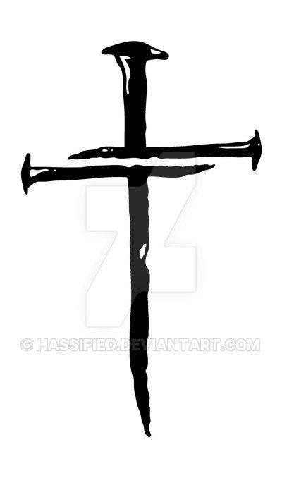 Tre chiodi Cross  vettore stampabile svg jpeg