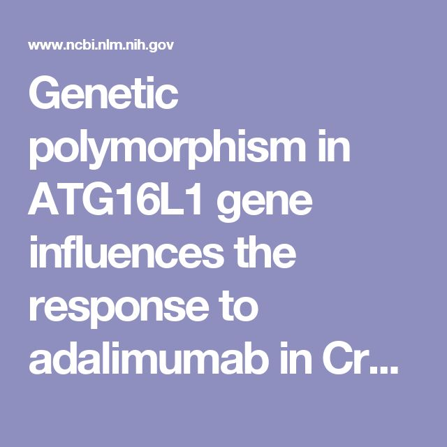 Genetic polymorphism in ATG16L1 gene influences the response to adalimumab in Crohn's disease patients.  - PubMed - NCBI
