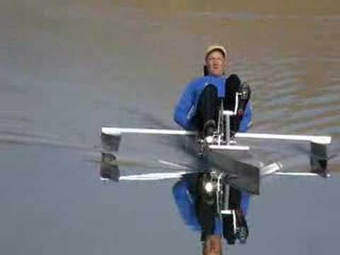 pedal boat lake test - YouTube