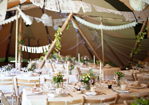 est magazine | marquee makeover with tipi teepee