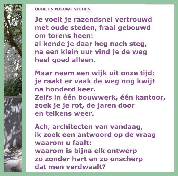 Oude en nieuwe steden Willem Wilmink