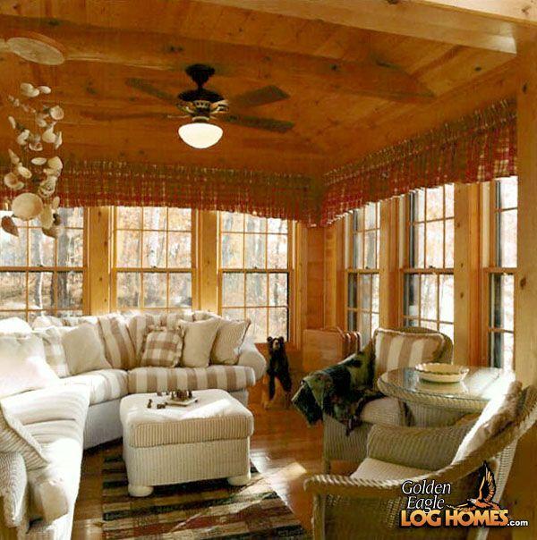 Google Image Result For  Http://www.goldeneagleloghomes.com/log_home_pictures/log_home_photos/Custom_Plan_2_Log_Home/ Sunroom | Sun Rooms | Pinterest ...