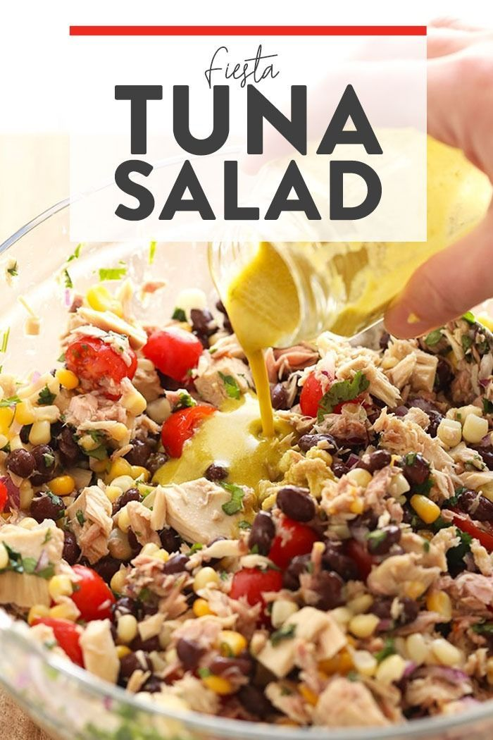 Tuna salad never looked so fresh! Make this colorful healthy tuna salad recipe w… – CLEANSING RECIPES