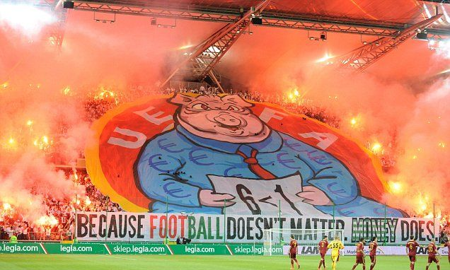 Legia Warsaw charged by UEFA over Champions League exit banner