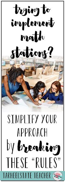 "Trying to implement math stations or guided math centers into your upper elementary math routine this year? Well, I've got 5 rules that you can plan to BREAK as you set up your routines, schedule, and teaching plans. 3rd, 4th, 5th, and 6th grade students will love this approach to math stations, and teachers will feel RELIEVED to break the rules that may have been ingrained in your mind about ""how math stations"" must be done. Check out these ""new"" ideas for upper elementary math stations and…"