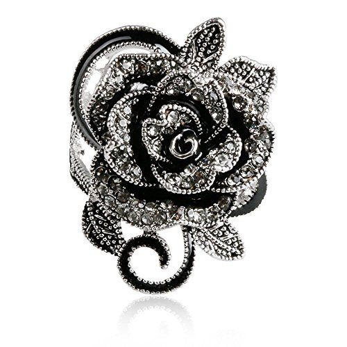 SMOO 2016 Newest Fashion Retro Crystal Jewelry Big Flower Shape Elegant Vintage Rings For Women