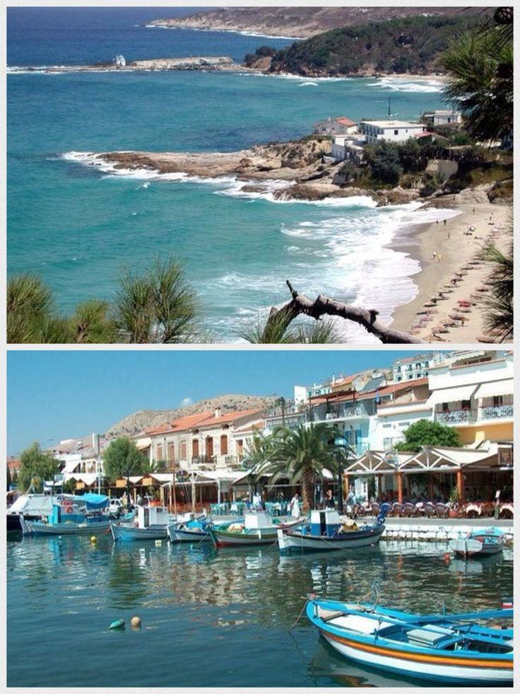 Top : Samos, Greece. Bottom: Pithagorio, Samos, Greece