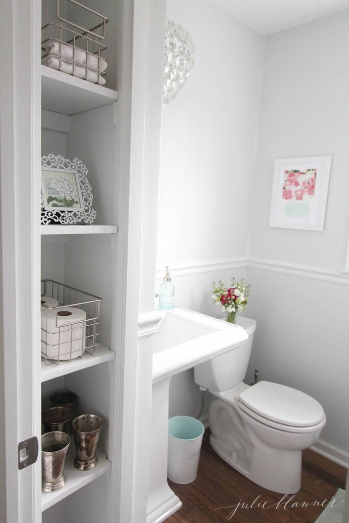 Small Bathroom Storage Ideas How To Open Up The Space To Add Light Function Home Homeupda Small Half Bathrooms Tiny Half Bath Half Bathroom Design Ideas
