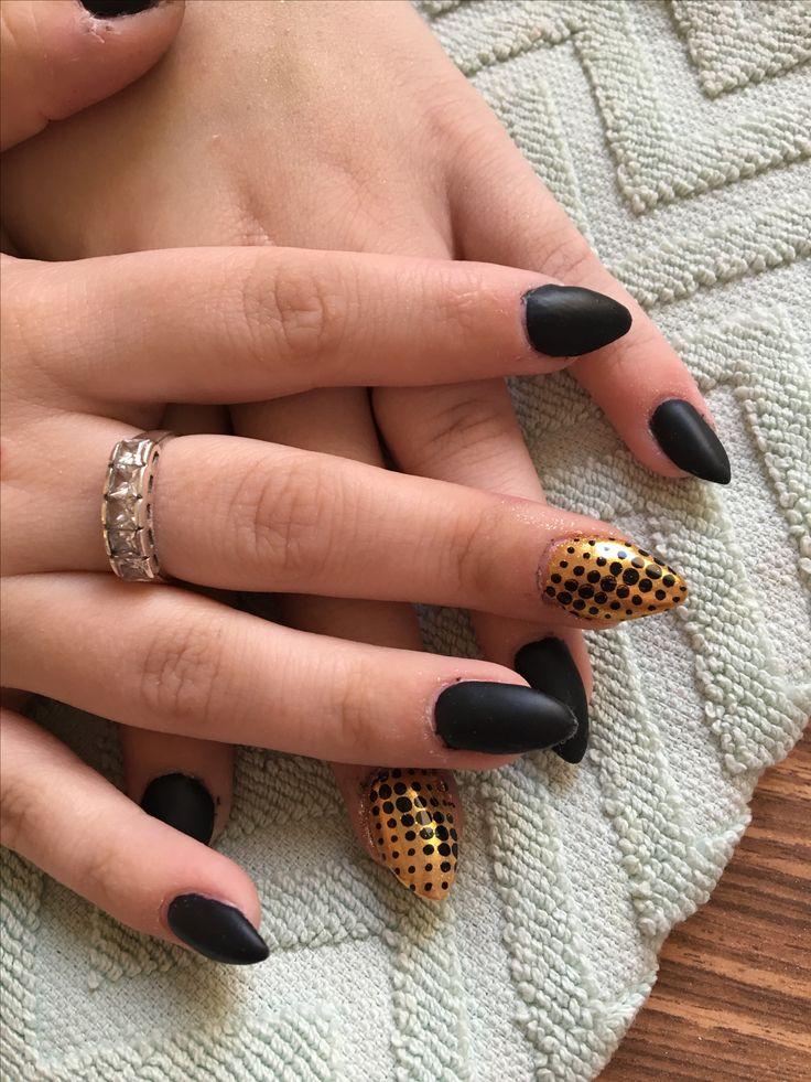 Black matte&gold
