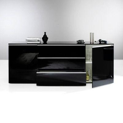 1000 id es propos de buffet noir laqu sur pinterest. Black Bedroom Furniture Sets. Home Design Ideas