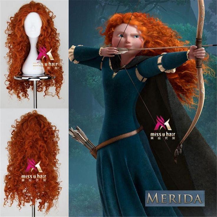 アニメーションムービー王女メリダかつらアニメ耐熱大きな波長いorange安いかつらカーリー合成かつらコスプレかつら