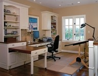 Pull out desk could be pull out in kitchen for more counter space... buffet...