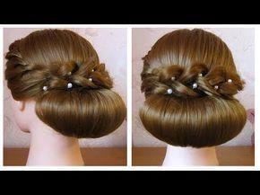 ⭐ Coiffure facile à faire soi même pour soirée/mariage/pour les fêtes cheveux mi long/long - YouTube