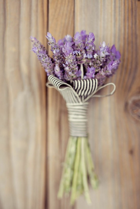 Attention DIY ers: super easy boquet to make for your wedding day. Plus lavender is a calming herb. You know that's important!