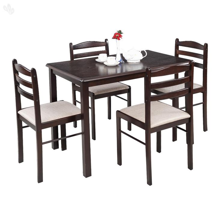 Royal Oak Hunter Four Seater Dining Table Set (Dark Brown)   Best Home And