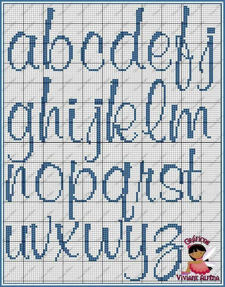 Script-style alphabet, lower case