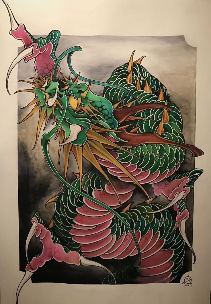 Amsterdam TATTOO 1825 KIMIHITO  Dragon Art work  www.tattoo1825.com