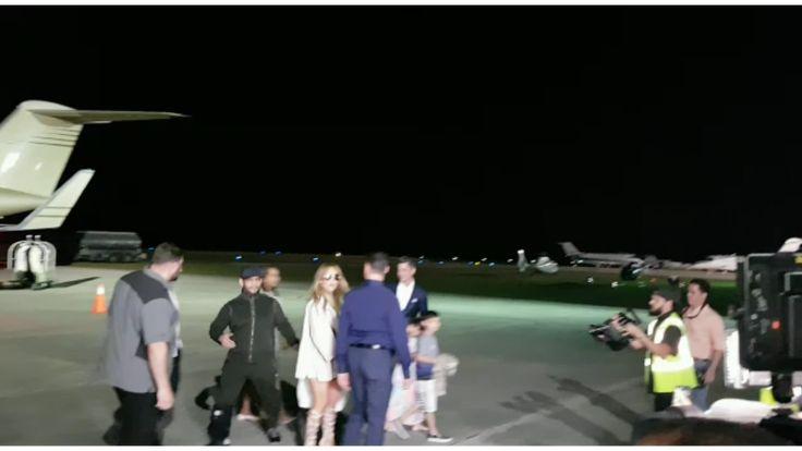 Video: Jennifer López llega a RD en un jet privado