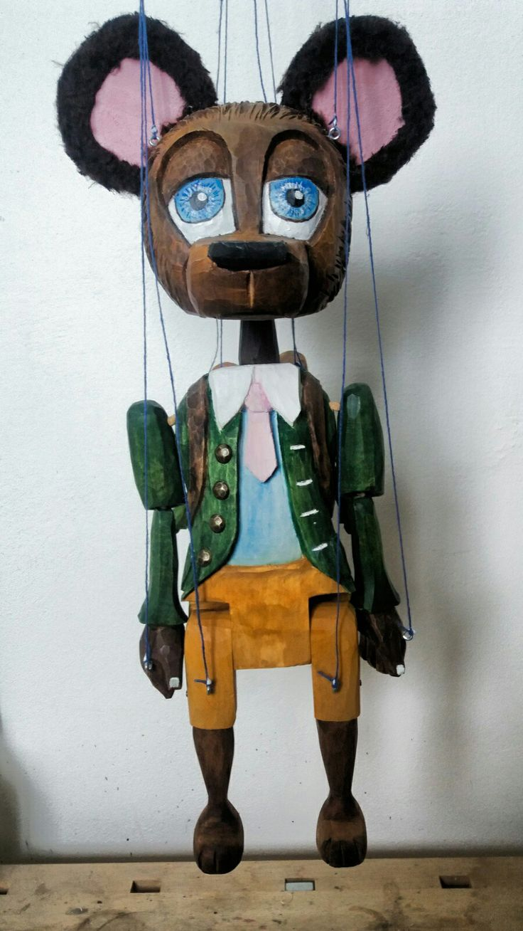Marionette of bear,was born 2018