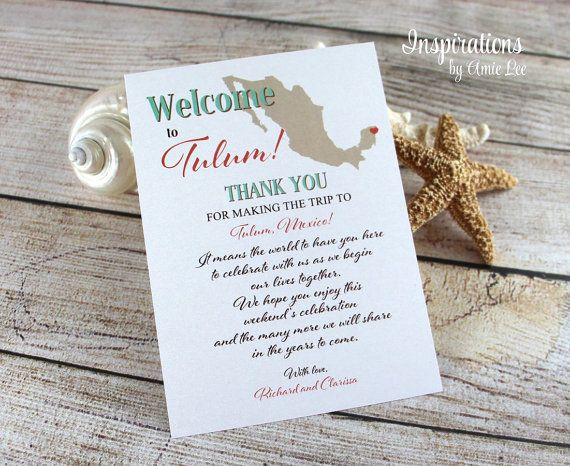 Wedding Itineraries, Wedding Weekend Itinerary, Welcome Letter