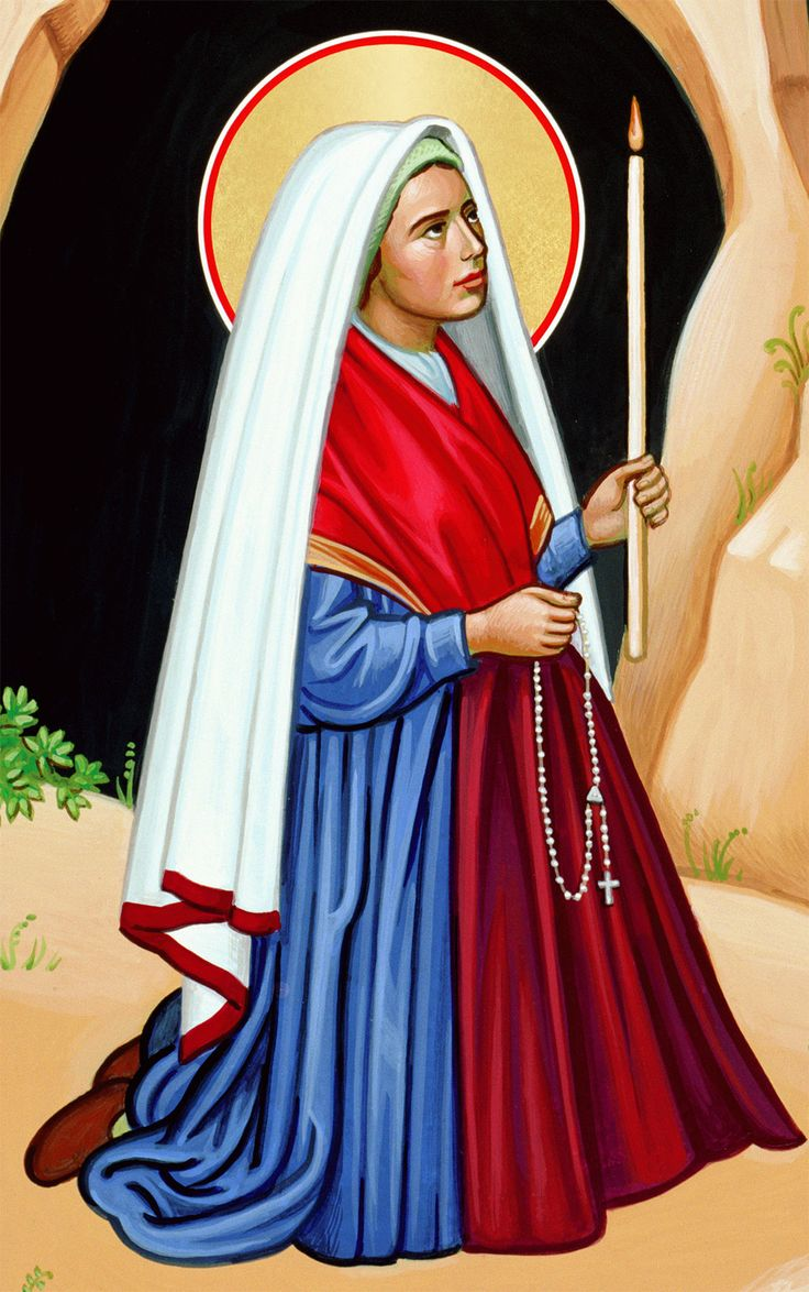 Today is Saint Bernadette Soubirous' day. Here is her ...