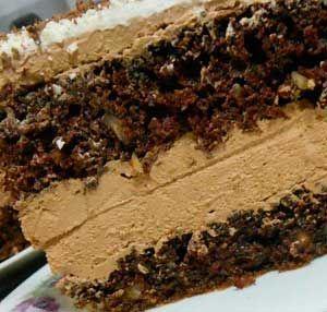 Шоколадный торт с орехами и кремом - Рецепт приготовления с фото