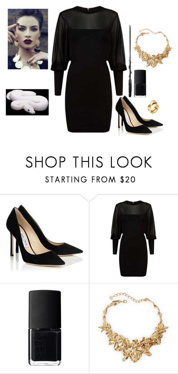 """Isolde Gaunt"" by nihility-of-our-existance on Polyvore featuring Balmain, NARS Cosmetics, Oscar de la Renta and Cartier"