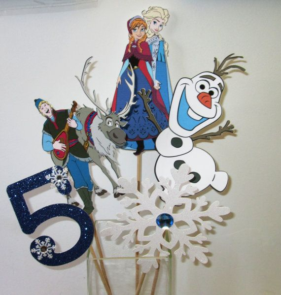5 Piece Frozen Centerpiece-Includes Anna and by ItsTwinkleTime