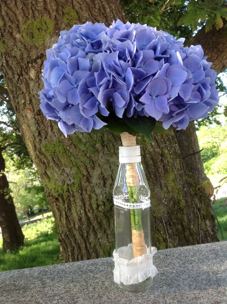 Precioso ramo de Hortensia azul. Ramo y fotografía de Fiuncho.