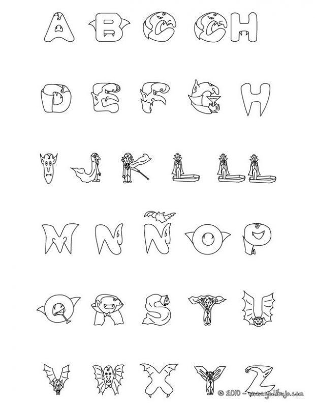 Letras Halloween Para Colorear Alphabet Coloring Pages Witch Coloring Pages Halloween Coloring Pages