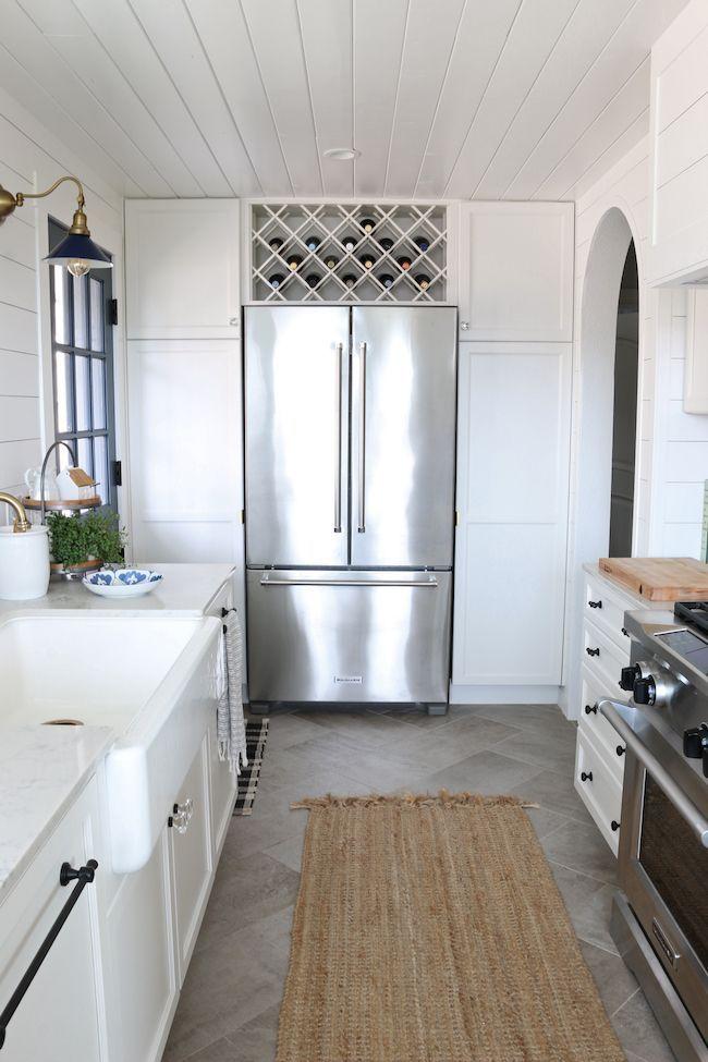 Kitchen Remodel Details: KitchenAid Appliances | Counter Depth French Door Refrigerator