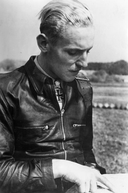 During the Second World War, one German Luftwaffe pilot compiled a combat record so remarkable that he earned the distinction of becoming the most successful fighter pilot in the history of humanity. Erich Hartmann, called the Blond Knight of the German Luftwaffe, achieved the staggering total of 352 confirmed victories. Hartmann's incredible combat record earned him the coveted diamonds to his Knight's Cross from Hitler personally. He was never shot down or forced to land due to enemy fire.