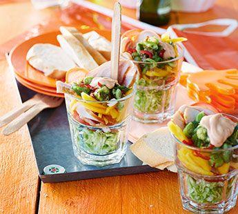 Gerookte-kip cocktail met mango - Recept - Jumbo Supermarkten