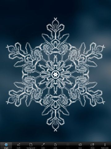 """snowflakes under a microscope 