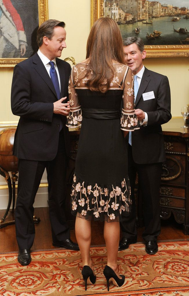Kate Middleton at a Royal Reception For Team GB. Love the details on the dress.