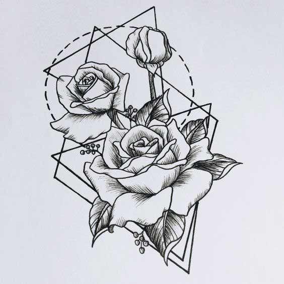 50 intensive geometrische Tattoos Designs und Ideen für Männer und Frauen #designs #frauen #geometrische #ideen #intensive #manner #tattoos