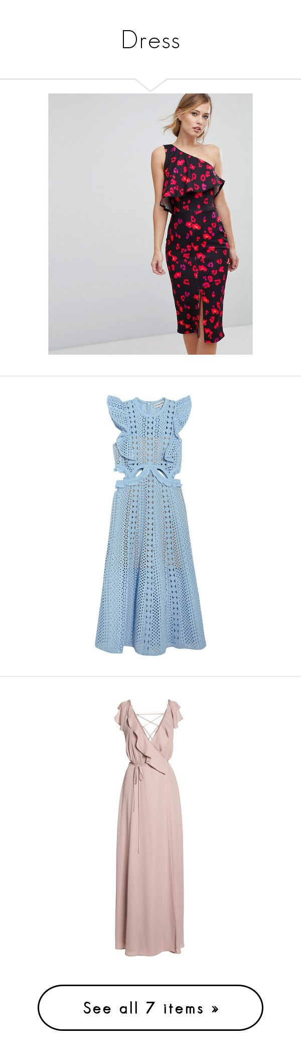 """""""Dress"""" by taniagf ❤ liked on Polyvore featuring dresses, multi, midi cocktail dress, strapless cocktail dresses, strapless midi dress, ruffle midi dress, shift dress, vestidos, sky blue and sheer dress"""