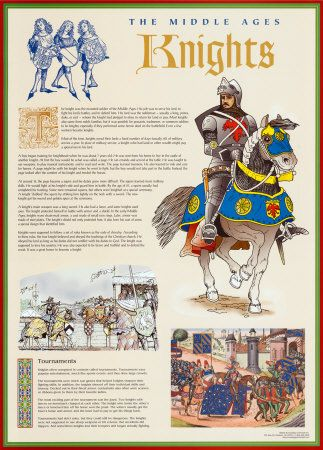 The Middle Ages - Knights Print