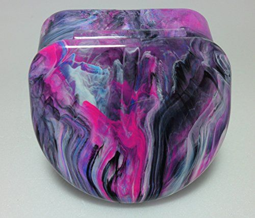 Designer Dental Retainer Case Container Box in PinkBlackBlueWhite Swirl Color To Store 1One Retainer Denture Mouth Guard ** Detailed information can be found by clicking on the image