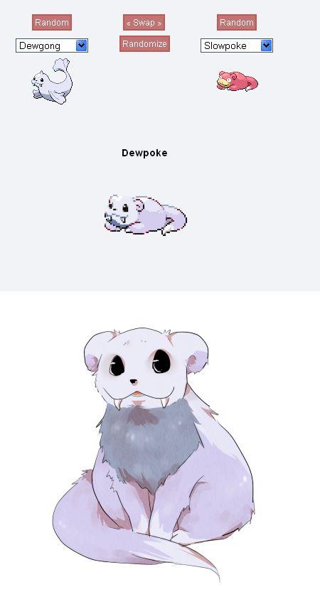 -Pokemon fusion- Dewpoke by =MiruruPi on deviantART  Kinda looks like Falkor from Neverending Story