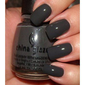 The color is fantastic - a dark glossy charcoal with no shimmer.