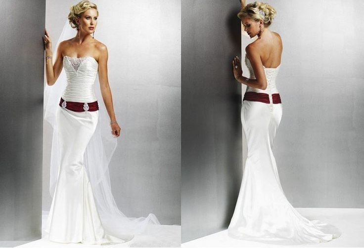 White wedding dress with red sash my big day pinterest for White wedding dress with purple accents
