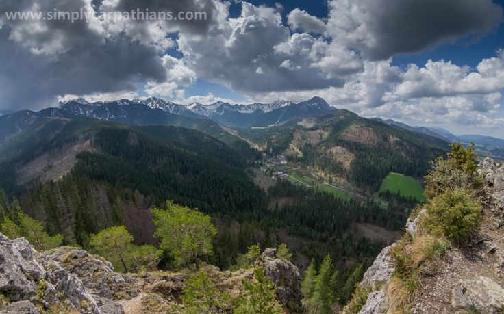Western Tatra Mountains in spring. View from #Nosal.