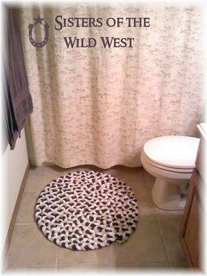 decoro sin decoro: Reciclar toallas en alfombras