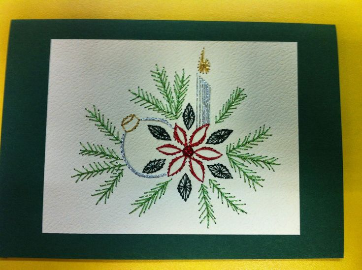 Cozy 1362 Best Embroidery On Paper Christmas Images On Pinterest