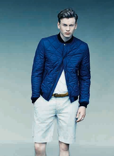 Modern MA1 Jacket #ss13 #brightnavy #quilted #farrell