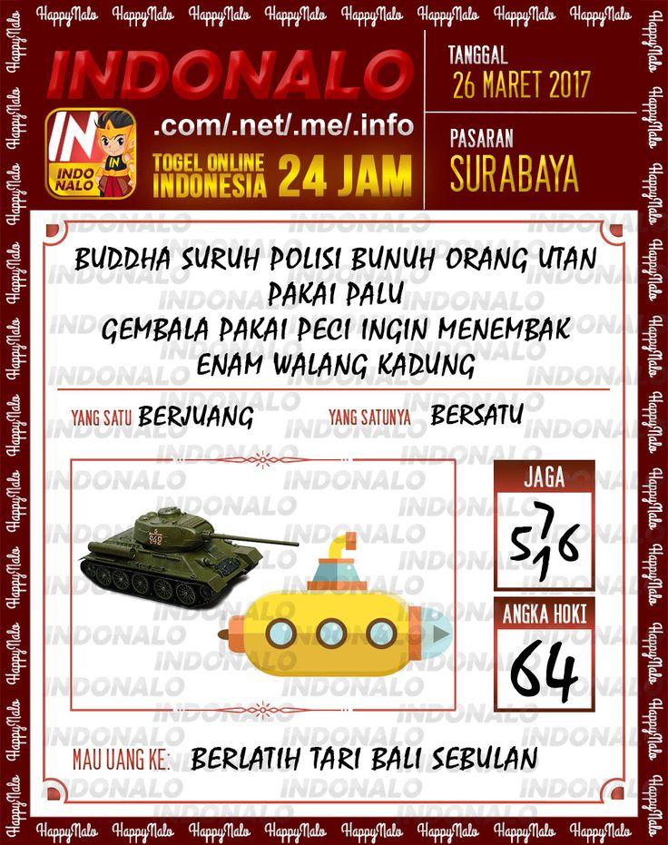 Kode Wangsit 6D Togel Wap Online Indonalo Surabaya 26 Maret 2017